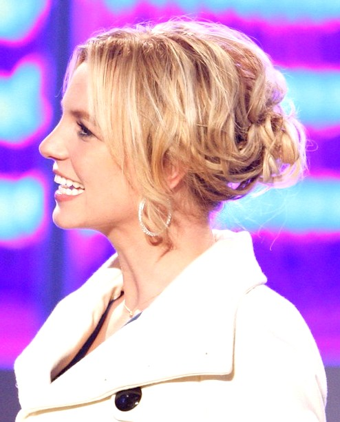 2014-Britney-Spears-Hairstyles-Blonde-Messy-Updo