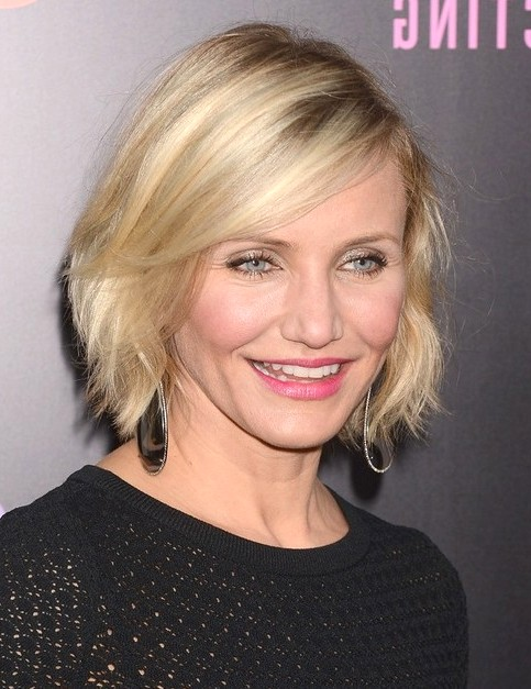 2014-Cameron-Diaz-Hairstyles-Straight-Short-Bob-Hair-Cuts