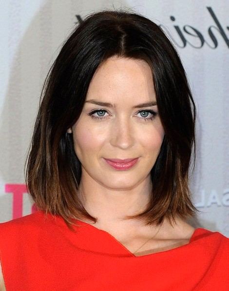 2014-Emily-Blunt-Hairstyles--Ombre-Long-Bob-Haircut