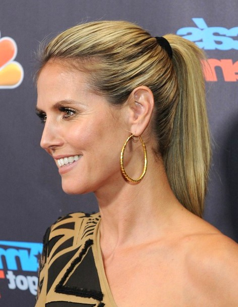 2014-Heidi-Klum-Hairstyles--High-Ponytail-Hairstyle-for-Long