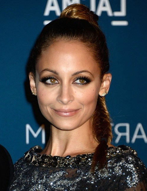 2014-Nicole-Richie-Hairstyles-High-Braided-Ponytail