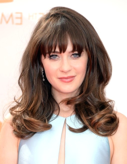 2014-Zooey-Deschanel-Hairstyles--Long-Hairstyle-with-Bangs